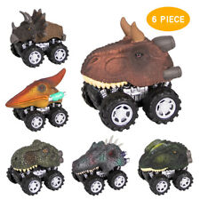 Dinosaur Toys Car Pull Back Car 6Pcs Vehicle Dinosaur Truck Cars Educational Toy