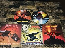 Anvil Signed Vinyl LP Record Lot Collection Lips & Robb Heavy Metal Picture Disc