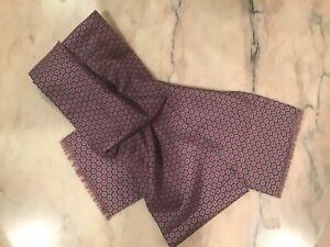 Men's Silk Scarf Multi Color Geometric Hexagonal Designs