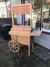 Large Display barrow candy cart stand rustic timber market stall display sign