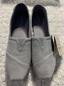 Toms Womens Alpargata Drizzle Grey-Size 11 NIB