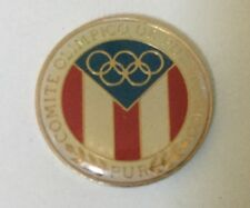 Puerto Rico Olympic Pin Badge Noc From 1984 Los Angeles Usa Olympiad