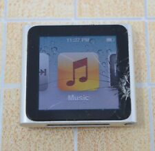 Apple iPod nano 6th Generation 8GB - Silver Cracked Screen but works