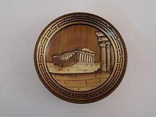 Vintage Handmade Pottery Dish Wall Art  Made in Greece