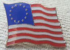 13 STAR BETSY ROSS FLAG LAPEL PIN HAT TAC NEW