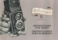 Rollei Rolleicord Iii Instruction Manual 1959 (English, Spanish)