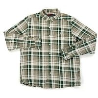 Mountain Hardwear Mens Long Sleeve Button Shirt Size Large Green Plaid