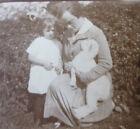 Vintage Photo Allemagne Germany 1930 Femme avec son enfant et un chien snapshot