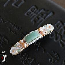 High Quality Chinese Classical Ladies Hair Clip Hair Accessories Aventurine Jade