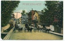 Dog Carts Street Scene St Anne de Beaupre Quebec Canada 1910c postcard