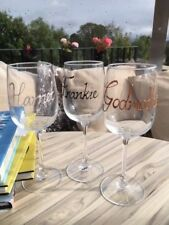Personalised Wine Glass with Crystals