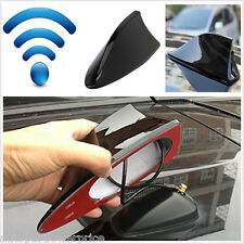 Car Body Black Shark Fin Antenna Roof Aerial FM/AM Blank Radio Signal Universal