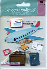 """Jolee's Boutique """"AIRPLANE TRAVEL"""" Dimensional Scrapbooking Stickers - AA91"""
