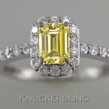 Good Cut Not Enhanced White Gold SI1 Fine Diamond Rings