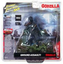 Johnny Lightning Godzilla Ground Assault Diecast 1/64 Scale Willys MB Jeep Car