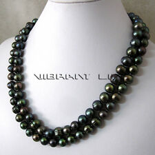 """40"""" 9-11mm Peacock Freshwater Pearl Necklace Strand Fashion Jewelry U"""