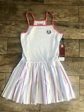 NWT SERGIO TACCHINI Tennis Dress WOMEN'S SZ S Pink White Gold