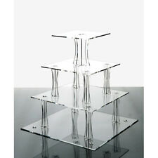 Cupcake Stand 4 Tier Square Acrylic Party Wedding Cake Stand