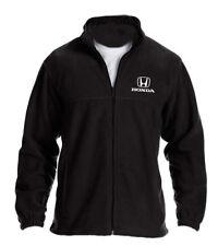 Honda Black Full Zip Fleece Jacket