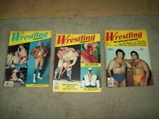 3 vtg THE RING'S WRESTLING 1981 Bruno WWF NWA Andre BACKLUND race WWE awa RICH