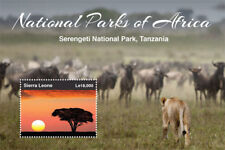 Sierra Leone - National Parks of Africa Stamp - Souvenir Sheet MNH