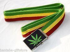 Textil cinturón _ Weed _ cáñamo _ Belt _ cannabis _ rasta reggae