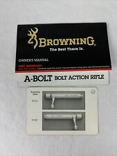 Browning A-Bolt Ii Bolt Action Rifle Owners Manual Original