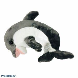 "MELISSA & DOUG Dolphin Plush Gray & White Measures 12"" Length Small Spot On Nose"