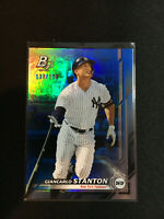 2019 Bowman Platinum Giancarlo Stanton Blue Parallel #137/150 NY Yankees MLB BY