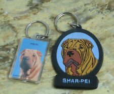 SHARPEI KEY RINGS- SET OF 2 ,1 BY SWIBCO