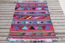Turkish Kilim Rug 35''x49'&# 039; Hand Woven Sivas Oriental Area Cicim Kilim 91x126cm