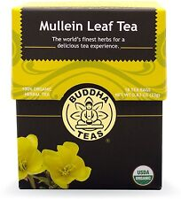 Mullein Leaf Tea, Buddha Teas, 18 tea bag 1 pack