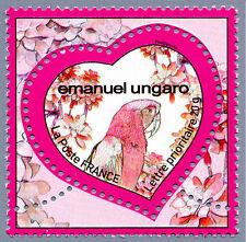 france 2009 emanuel ungaro mode fashion  heart parrots birds aves vogel 20g 1v