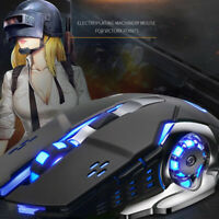 Rechargeable X8 Silent LED Backlit USB Optical Ergonomic Gaming MouseFB