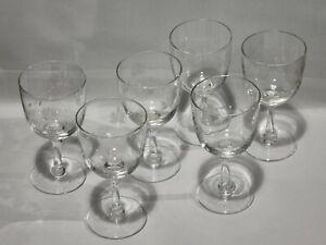 Vintage wine glasses X6