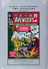 MARVEL MASTERWORKS AVENGERS VOL #1 HARDCOVER Jack Kirby Comics Collects #1-10 HC