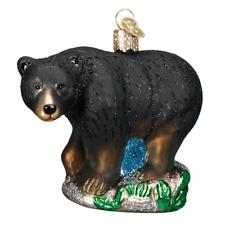 Old World Christmas BLACK BEAR (12207)X Glass Ornament w/ OWC Box