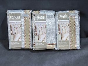 "Croscill Blyth Euro Pillow Shams Champagne SET OF 3 100% Polyester  26""x 26"""