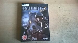 CALL OF DUTY 2 - COD 2 PC GAME - Fast Post - ORIGINAL & COMPLETE WITH MANUAL VGC