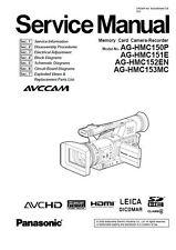 Panasonic AG-HMC150 HMC151 HMC152 HMC153 Service Manual & Repair Guide