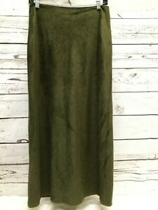 American Eagle Women's Ultra Suede Olive Size 6 Maxi Skirt