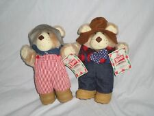 """Furskins Bears 1986 Wendy's Farrell Dudley Bears with Original Tag 7"""""""