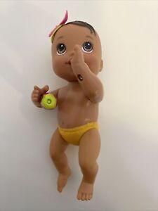 """6"""" baby alive 2012 hasbro doll kick n cuddle newborns Brown hair works great!!"""