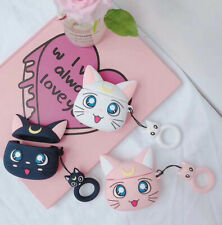 Silicone Sailor Moon Luna Cat Wireless Bluetooth Earphone Case For Apple Airpods