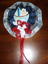 NAUTICAL CORSAGES BABY SHOWER PARTY, FAVOR GIFT, IN  COLD PORCELAIN HANDMADE