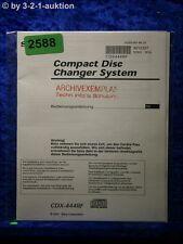 Sony Bedienungsanleitung CDX 444RF Disc Changer System (#2588)