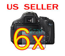 6x Canon EOS 600D Rebel T3i Camera LCD Screen Protector Guard Shield Film