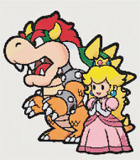 Princess is in Another Castle - Retro Mario Bros. DIGITAL Cross-Stitch Pattern