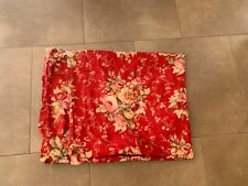 Waverly Sanctuary Rose Print Curtain Drape in Crimson Red 60 x 52