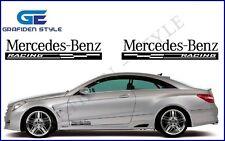 1 Paar MERCEDES BENZ RACING - Auto Seiten Aufkleber - Car Sticker !